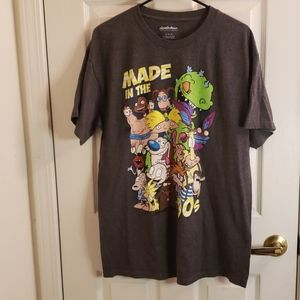 Nickelodeon 90s Nicktoons T-Shirt Gray Large